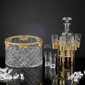 100Z6xx, Set di accessori lussuosi in bronzo bagnato oro 24kt e cristallo