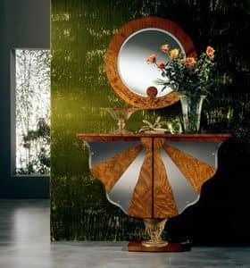 MB23 Ali di farfalla, Mobiletto contenitore, classico, in legno, per Albergo
