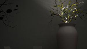 June, Vaso da esterno con luce integrata