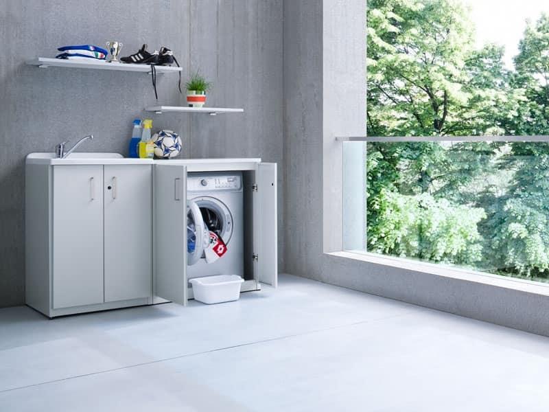 Braccio di ferro 04 mobile porta detersivo esterni idfdesign - Mobile porta lavatrice ...