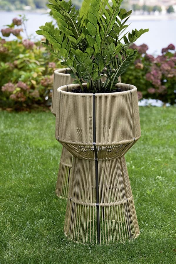 Cricket fioriera, Fioriera in fibra sintetica e alluminio, per esterni