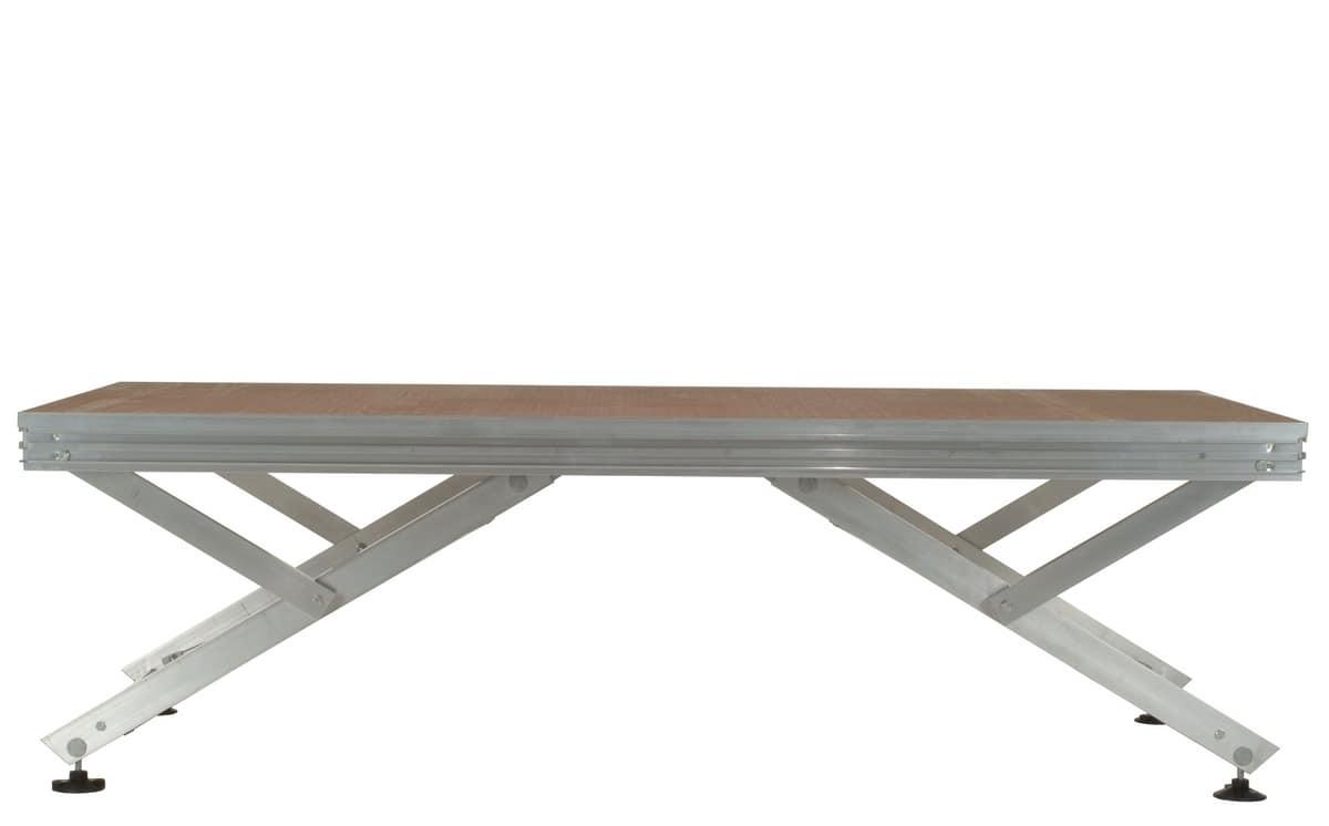 Unistage, Pedana modulare per comporre palchi, tribune e passerelle