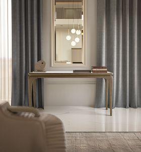 Alexander Art. A24, Consolle in frassino, piano con specchio bronzato