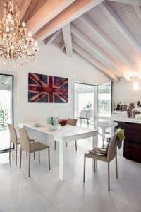 AMELIA, Consolle moderna, trasformabile in tavolo per la casa