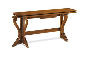 Art. 82, Consolle in legno trasformabile in tavolo