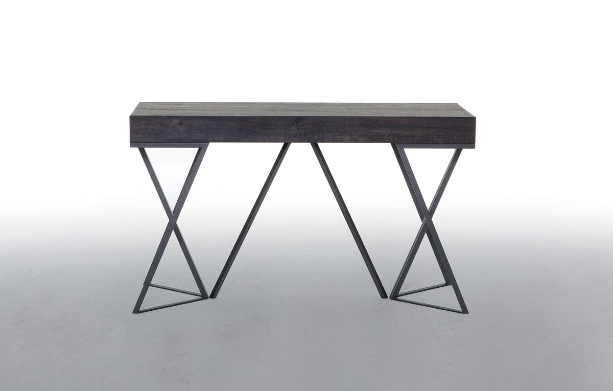 BEVERLY, Consolle allungabile, con piano in legno