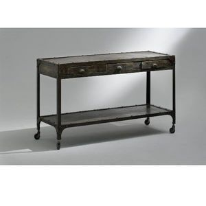 CONSOLE INDUSTRY DRAWERS, Consolle in metallo