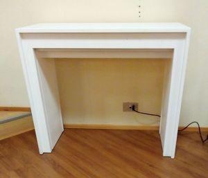 Consolle 01, Consolle allungabile, in legno bianco
