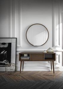 Consolle Coco 020/1, Consolle in rovere per soggiorno moderno