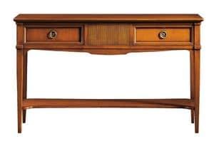 Corinne FA.0002, Consolle con 2 cassetti, in stile Luigi XVI
