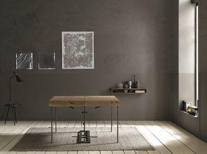 Da Vinci, Tavolo console richiudibile in legno di rovere