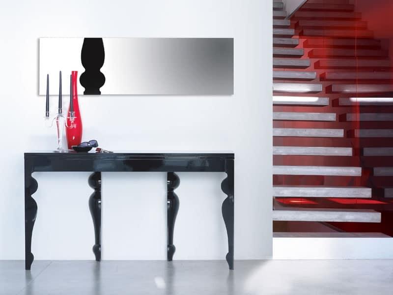 Consolle in legno di rovere per salotti idfdesign for Consolle di design
