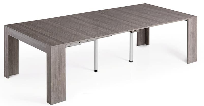 Consolle trasformabile in tavolo da pranzo per 14 persone idfdesign - Tavolo per 12 persone ...