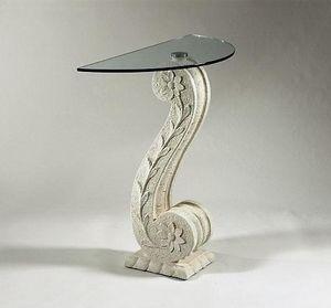 Itaca, Consolle classica in pietra e vetro