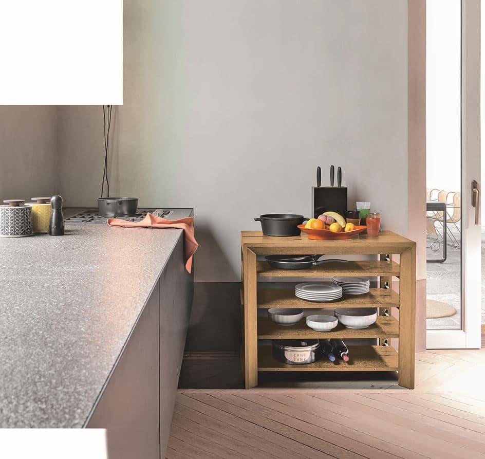 LUNA CO501, Consolle allungabile in legno per appartamento moderno