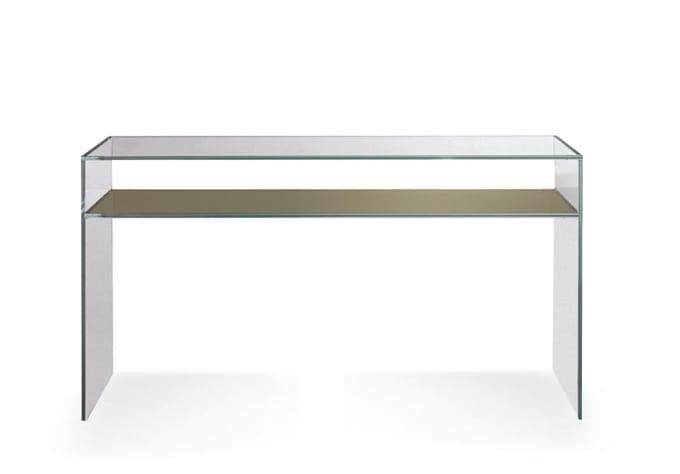 Consolle con piano in cristallo, per ingresso moderno | IDFdesign