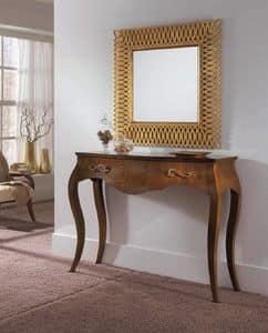 Righello consolle classica in legno e metallo per salotti eleganti idfdesign for Mobiletto ingresso ikea