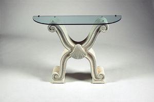 Ogma, Consolle stile classico, piano in vetro