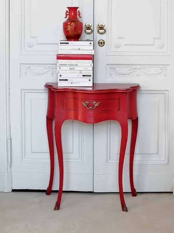 Consolle in legno laccato top in noce classica di lusso for Casa classica srl