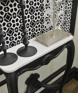Palazzo d'inverno consolle, Consolle nero lavagna, con piano in marmo bianco