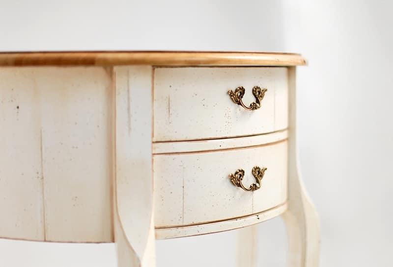 PALISA Art. 4260, Consolle con 2 cassetti, in legno laccato, piano in noce