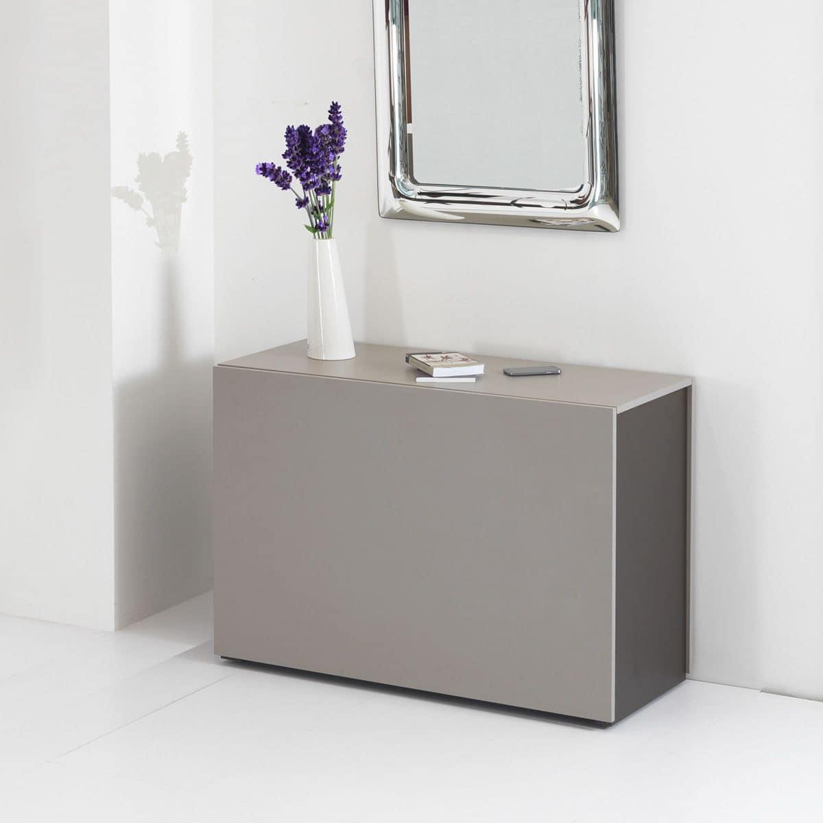 Proteo comp 01 set salvaspazio con consolle tavolo e for Tavolo consolle con sedie