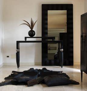 Righello, Consolle classica in legno e metallo, per salotti eleganti