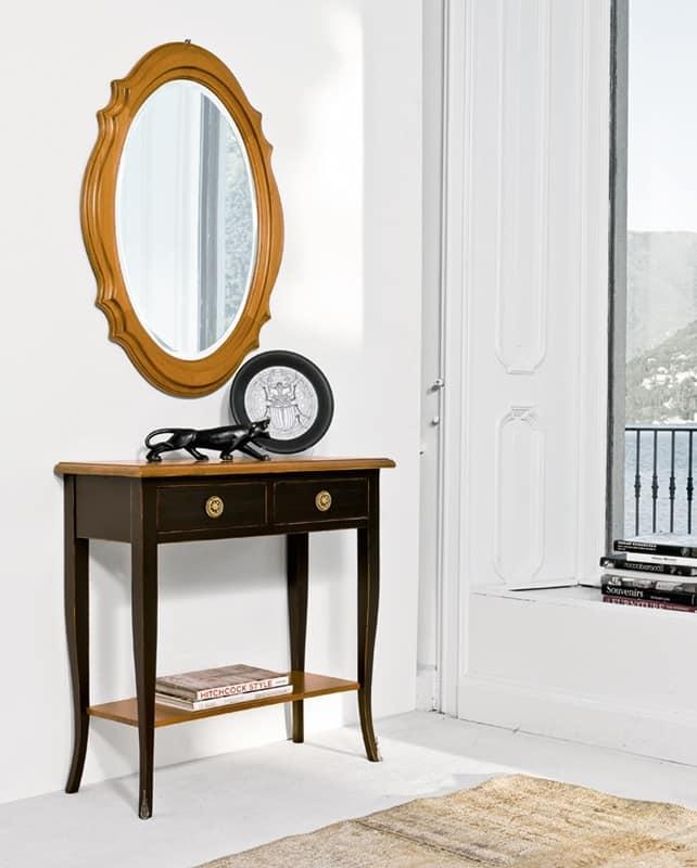 Consolle laccata in ciliegio classica di lusso per for Ingresso casa classica