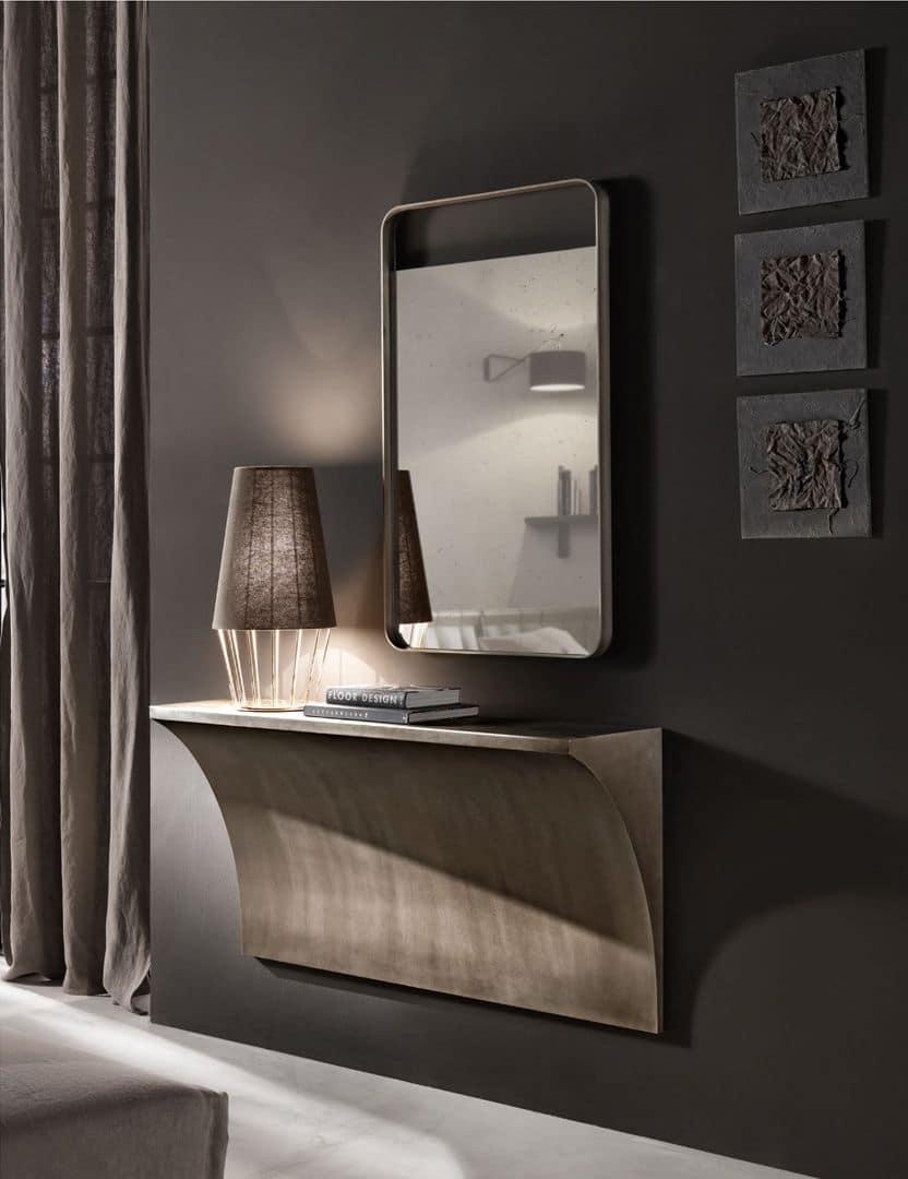 Consolle da parete in ferro curvato lavorata a mano idfdesign - Consolle bagno classico ...
