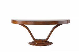 Victoria consolle, Consolle in legno a forma semi ovale