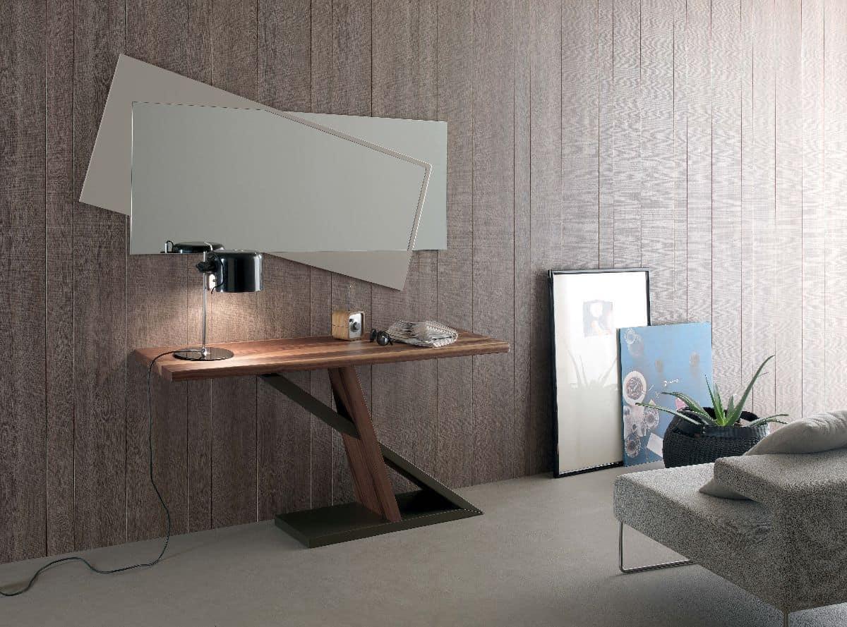 Console moderna in legno adatta per la casa , consolle in metallo ...