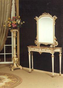 1020 CONSOLLE, Consolle classica in legno massello, con 2 cassetti