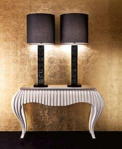 Consolle classica in legno e metallo per salotti eleganti for Mobili consolle ingresso classiche