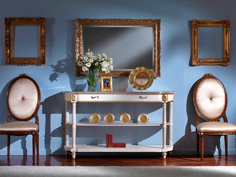 3510 CONSOLLE, Consolle classica con piano in marmo