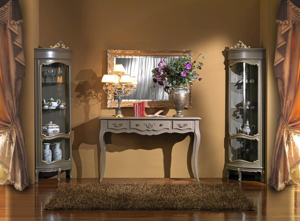 3610 CONSOLLE LACCATA, Consolle classica di lusso per ville e hotel