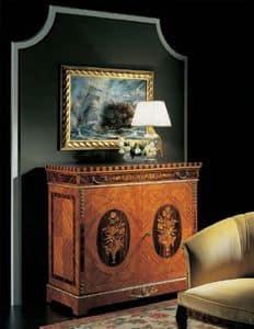 575, Consolle classica di lusso, intarsiato, in legno di rosa