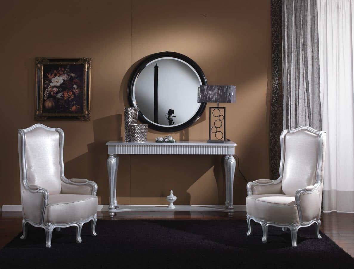 717 CONSOLLE, Consolle con cassetto ideale per ambienti residenziali classici