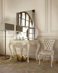 Adele consolle, Consolle classica, in legno intagliato
