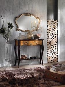 Art. 087 CONSOLLE, Consolle in legno massello, con maniglie in metallo