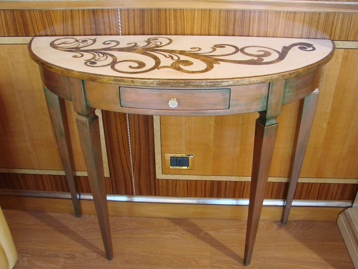 Consolle classica laccata in stile inglese per la casa for Ingresso casa classica