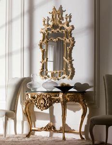Art. 2055, Consolle intagliata, stile classico, con piano in marmo
