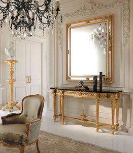 Art. 285, Consolle classica, con piano in marmo nero