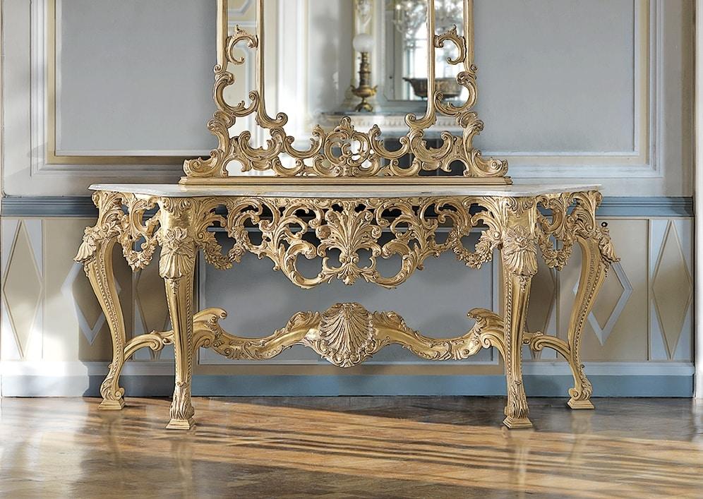 ART. 2949, Consolle classica con finitura oro