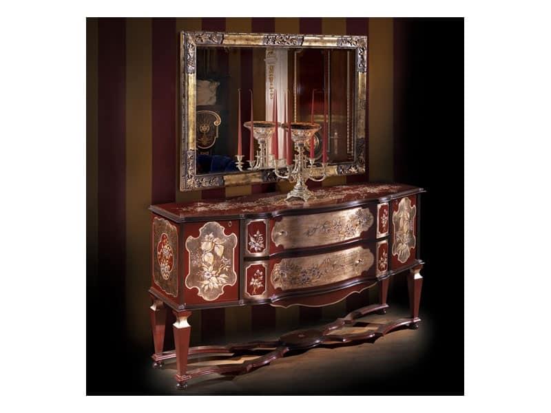 Art 5786 mobili classici di lusso reception idfdesign for Mobili salone classici