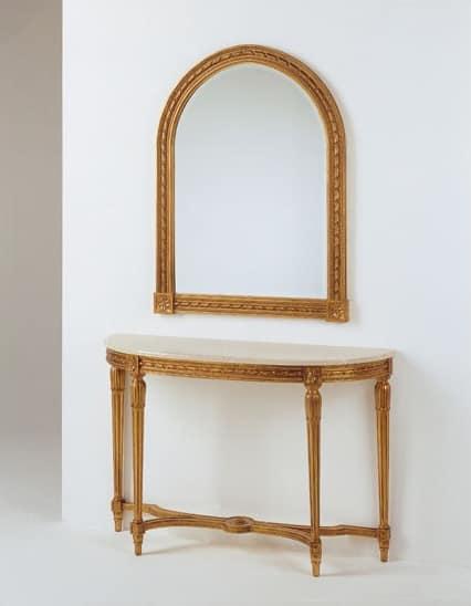 Art. 700, Consolle intagliata, stile Luigi XVI, per albergo classico