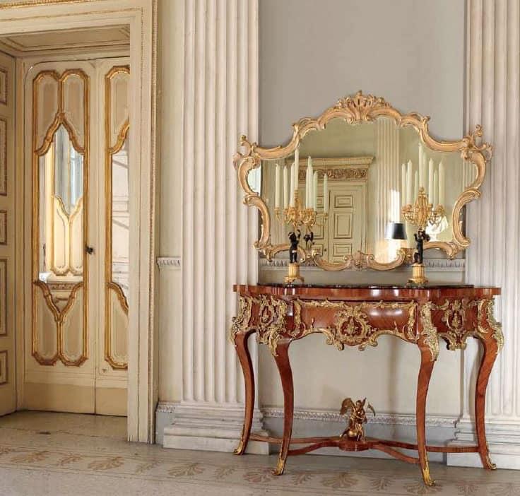 Consolle classica in marmo decori in bronzo per ingressi for Immagini design