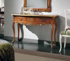 Art. H627 CONSOLLE 3C, Consolle classica di lusso, con 3 cassetti