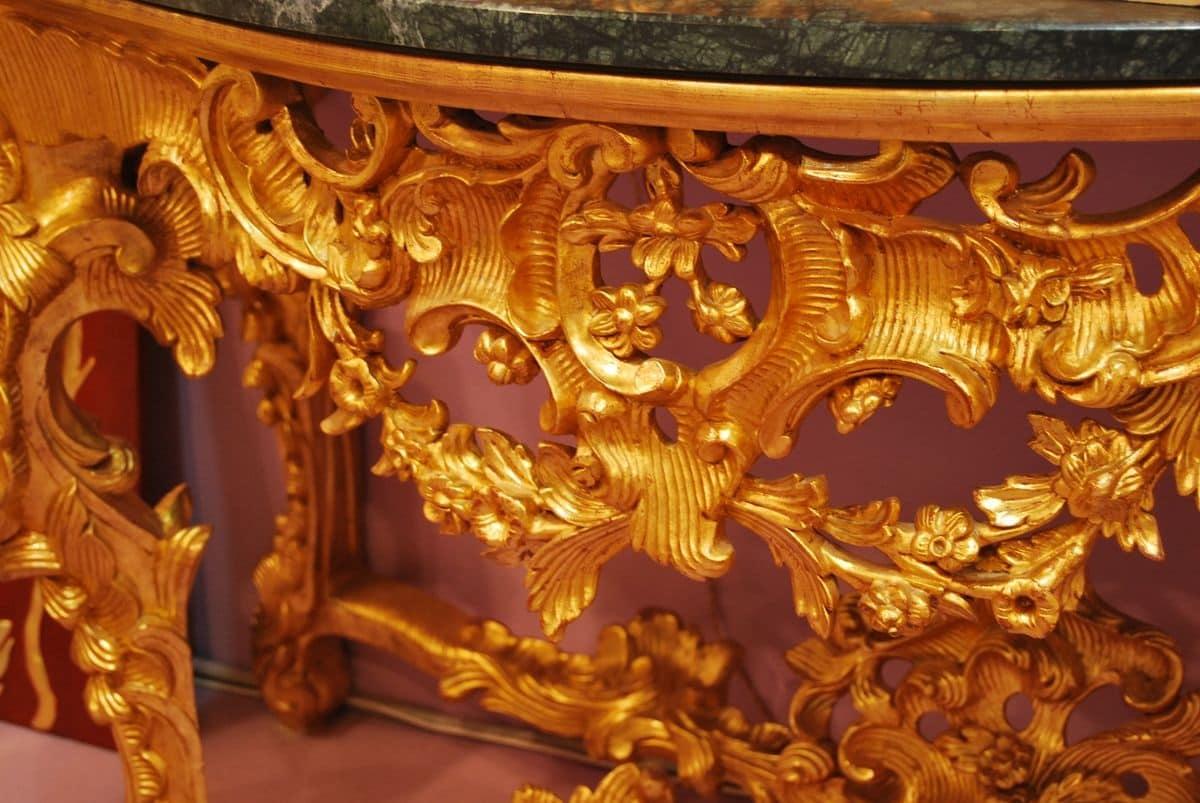 Consolle intagliata in stile barocco per alberghi di for Design in stile romano