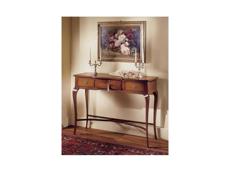 Consolle in ciliegio con cassetti per ingressi e for Ingresso casa classica