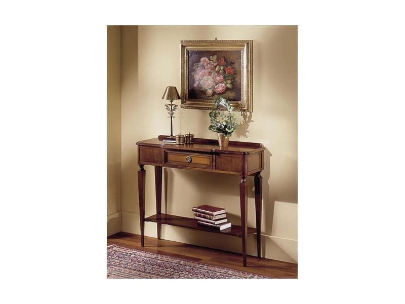 Consolle in stile classico in legno di ciliegio idfdesign - Consolle bagno classico ...
